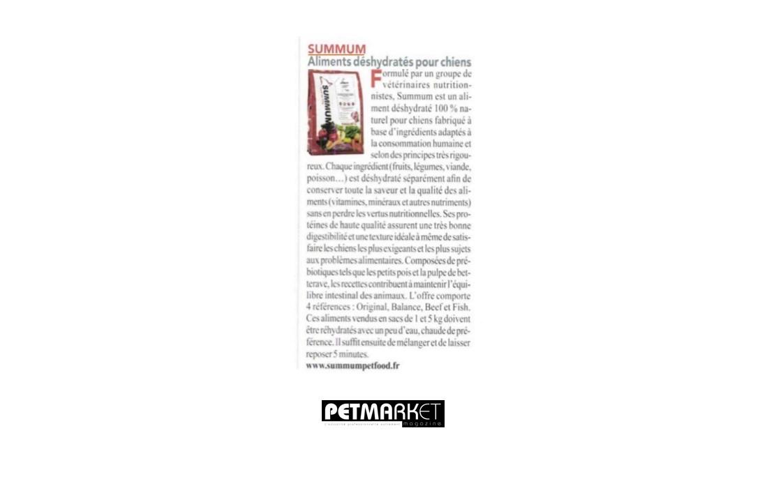 PetMarket Magazine parle de Summum !